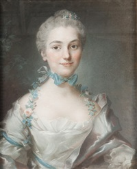 portrait de jeune femme by pascal-leon de glain