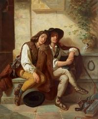 zwei junge italiener by carl huth