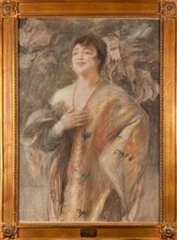 dama w naszyjniku z pereł by teodor axentowicz