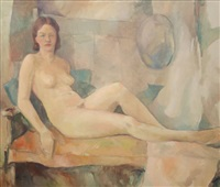 reclining nude by carl frederick gaertner