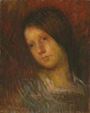 portrait de line aman jean fille de lartiste by edmond françois aman jean