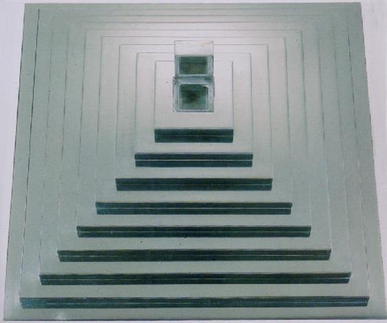 zinc pyramid by walter de maria