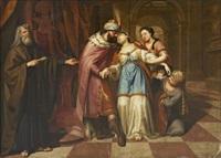 esther before ahasverus by richard (risaert van) bleeck