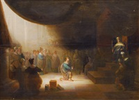 daniel interpreting nebukadnezar's dream by paulus lesire