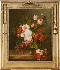 vase de fleurs sur un entablement by flemish school (19)