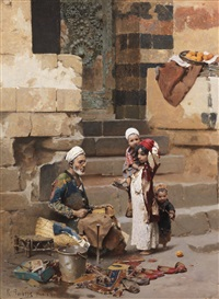 the old shoe maker, cairo by raphael von ambros