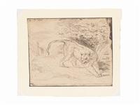 tigre en arrêt by eugène delacroix
