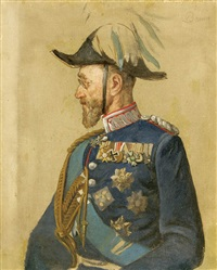 portrait of a bavarian general by louis (ludwig) braun
