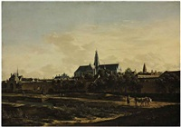 a view of haarlem from the northwest corner with the kruispoort and st. bavo's cathedral beyond by gerrit adriaensz berckheyde