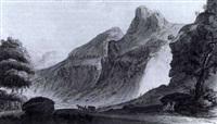 la cascade de pisse-vache proche st. maurice by jean-françois albanis de beaumont