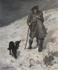 a highland shepherd (sketch) by james guthrie