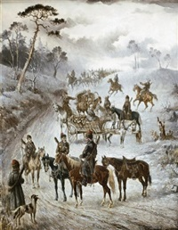 cossacks on the road by vera almanoff