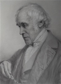 a portrait drawing of sir john taylor coleridge by jane fortescue seymour