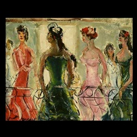 ladies on a balcony by pascal cucaro