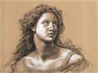 portrait eines jungen mädchens by vincenzo gemito