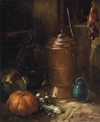 pots, vegetables and game by antoine vollon
