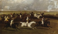 steeplechasing (racing in ireland) by alfred charles havell
