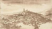 view of castel di poggio, tuscany by remigio cantagallina