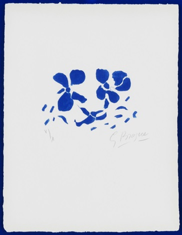 blue flowers 44 from si je mourais la bas by georges braque