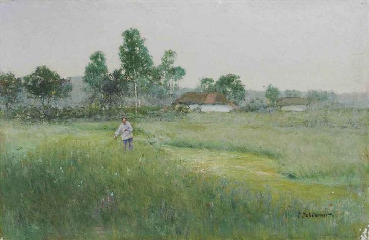 toiling in the field by ivan pavlovich pokhitonov