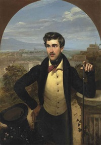 portrait of prince mikhail alexandrovich galitzine (1804-1860) by orest adamovich kiprensky