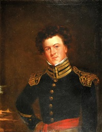 portrait of an officer in full dress by joseph greenleaf cole