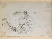 etude pour un choc de cavalerie by eugène delacroix