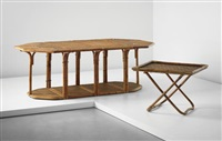 puzzle table and serving stand by gabriella crespi