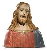 bust of christ by agnolo di polo