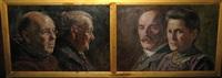 portrait de mme rooms et son fils nicolaas kundy (+ portrait d'arthur kundy et sa femme marie van deursen; pair) by august audenaert