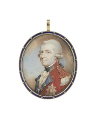 a portrait miniature of a general officer and knight of the order of the bath by philip jean
