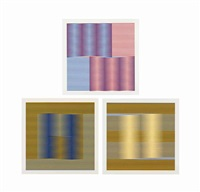 three plates, from: induction chromatique by carlos cruz-diez