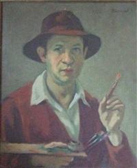 autoportrait au pinceau by jacob markiel