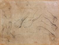 études de mains et de visage (study) by eugène delacroix