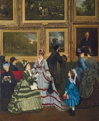 le salon de 1874 by camille léopold cabaillot lassale