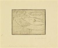 paolo und francesca klein (querformat) by wilhelm lehmbruck