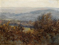 stream near tavistock, south devon (+ landscape near tavistock, south devon; 2 works) by james smith morland