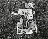 image on asphalt from beirut city centre by fouad elkoury