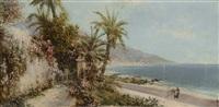 scorcio ligure e paesaggio (recto-verso) by giacinto bo
