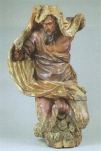 männliche karyatide in knieender haltung by andrea fantoni