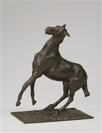 cheval se cabrant by edgar degas