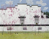 scholar building in spring by pang jun