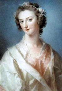 portrait of a lady (mrs. mason?) by lady diana beauclerk