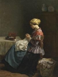 la petite couturière by jules breton