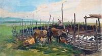 滨海牛羊 by wu guanzhong