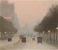 evening, st. kilda road by clarice marjoribanks beckett