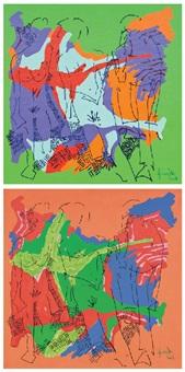 figurative composition (2 works) by yigit yazici