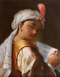 jeune enfant au turban by domenico maggiotto