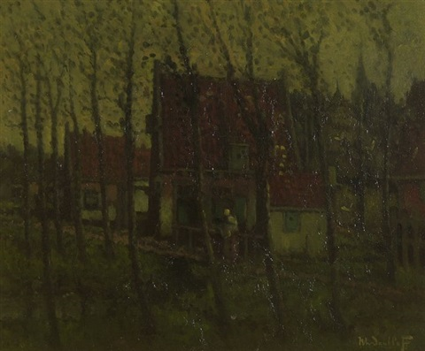 houses with trees by henri van daalhoff
