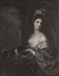 retrato de señora con perro by margaretha wulfraet